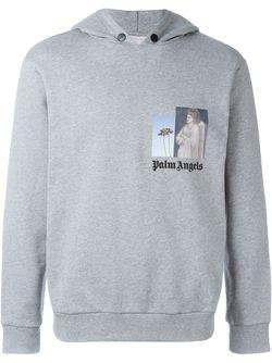 Толстовка С Капюшоном И Логотипом PALM ANGELS                                                                                                              серый цвет