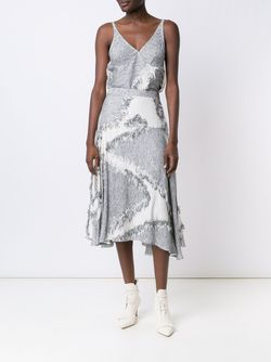 Frayed Effect A-Line Skirt Derek Lam                                                                                                              серый цвет