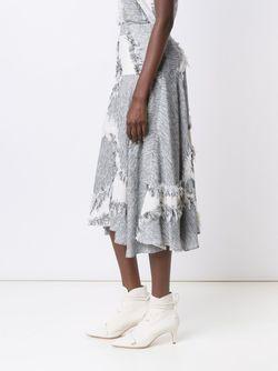 Frayed Effect A-Line Skirt Derek Lam                                                                                                              серый цвет