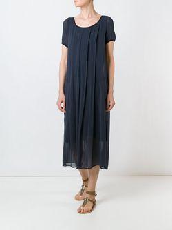 Плиссированное Платье Средней Длины Kristensen Du Nord                                                                                                              синий цвет