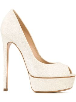 Peep Toe Pumps Casadei                                                                                                              Nude & Neutrals цвет