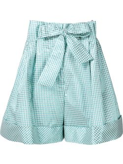 Metallic Check Pattern Bow Shorts Delpozo                                                                                                              зелёный цвет