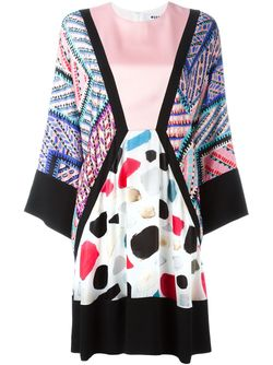 Kimono Sleeve Dress MSGM                                                                                                              розовый цвет