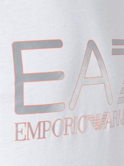 Logo Print T-Shirt EA7 EMPORIO ARMANI                                                                                                              белый цвет