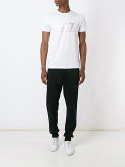 Logo Print T-Shirt EA7                                                                                                              белый цвет