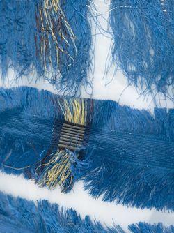 Silk Fringe Crossbody Bag LUISA CEVESE RIEDIZIONI                                                                                                              синий цвет