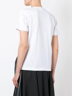 Футболка С Ленточной Отделкой Comme Des Garcons                                                                                                              белый цвет