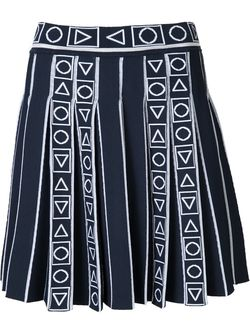 Pleated Jacquard Skirt Peter Pilotto                                                                                                              синий цвет
