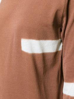 Футболка С Контрастными Полосками SUZUSAN                                                                                                              коричневый цвет