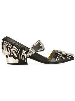 Декорированные Туфли С Бахромой Toga                                                                                                              чёрный цвет