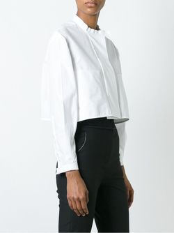Banded Collar Cropped Shirt Ellery                                                                                                              белый цвет