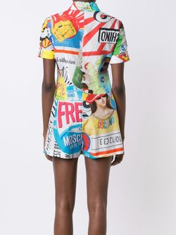 Collage Print Playsuit Moschino                                                                                                              многоцветный цвет