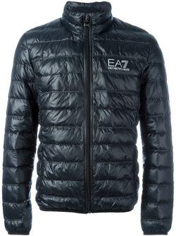 Feather Down Padded Jacket EA7 EMPORIO ARMANI                                                                                                              чёрный цвет