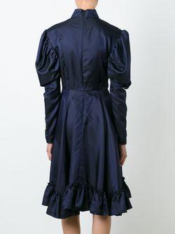 Платье С Графическим Принтом J.W. Anderson                                                                                                              синий цвет