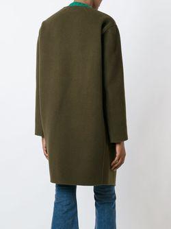 Пальто Асимметричного Кроя Vanessa Bruno                                                                                                              зелёный цвет