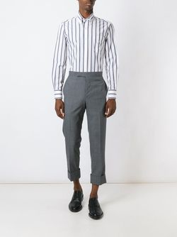 Thick Striped Shirt Thom Browne                                                                                                              белый цвет
