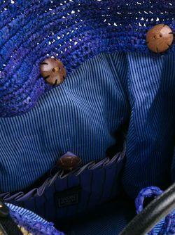 Сумка На Плечо С Цветочной Аппликацией Jamin Puech                                                                                                              синий цвет