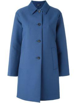 Single Breasted Coat Jil Sander Navy                                                                                                              синий цвет