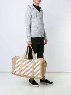 Striped Tote OFF-WHITE                                                                                                              коричневый цвет