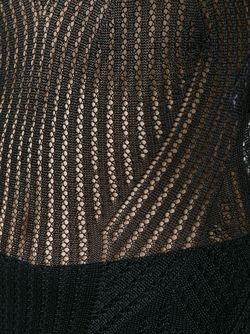 Длинное Ажурное Платье Hervé Léger                                                                                                              чёрный цвет