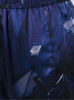 Укороченные Брюки С Геометрическим Принтом Ilaria Nistri                                                                                                              синий цвет