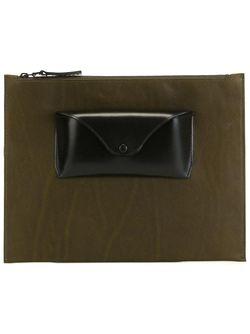 Клатч С Накладным Карманом Maison Margiela                                                                                                              зелёный цвет