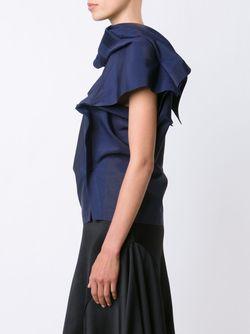 Топ В Геометрическом Стиле Issey Miyake                                                                                                              синий цвет