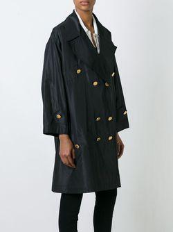 Двубортное Пальто Chanel Vintage                                                                                                              чёрный цвет