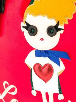 Сумка-Тоут С Принтом Девушки Love Moschino                                                                                                              красный цвет