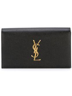 Клатч Monogram Saint Laurent                                                                                                              чёрный цвет