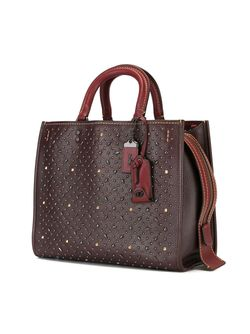 Rivets Rouge Tote COACH                                                                                                              красный цвет
