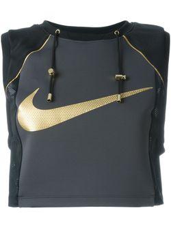 Укороченный Топ Lab X Olivier Rousteing Nike                                                                                                              черный цвет