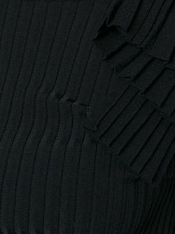 Топ В Оборками В Рубчик Emilio Pucci                                                                                                              черный цвет