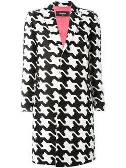 Пальто В Ломаную Клетку Dsquared2                                                                                                              черный цвет