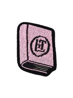 Брошь В Виде Книги Olympia Le-Tan                                                                                                              розовый цвет