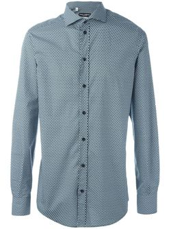 Рубашка С Мелким Узором Dolce & Gabbana                                                                                                              зелёный цвет