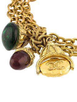 Многослойный Цепочный Браслет Chanel Vintage                                                                                                              серебристый цвет