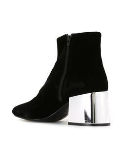 Ботинки На Контрастном Каблуке MM6 by Maison Margiela                                                                                                              чёрный цвет