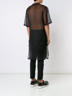Прозрачная Футболка Свободного Кроя Givenchy                                                                                                              черный цвет