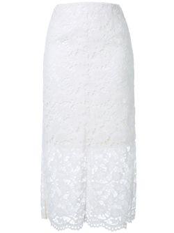 Кружевная Юбка LE CIEL BLEU                                                                                                              белый цвет