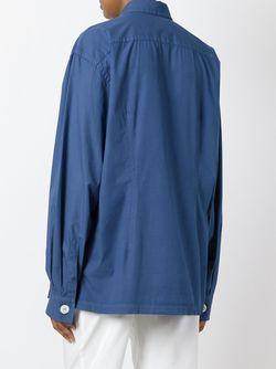 Рубашка С Вышивкой Dolce & Gabbana                                                                                                              синий цвет