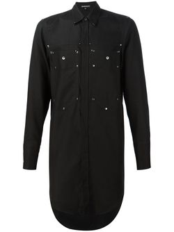 Long Patch Pocket Shirt Ann Demeulemeester                                                                                                              чёрный цвет