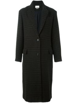 Пальто В Клетку Garth ISABEL MARANT ÉTOILE                                                                                                              черный цвет