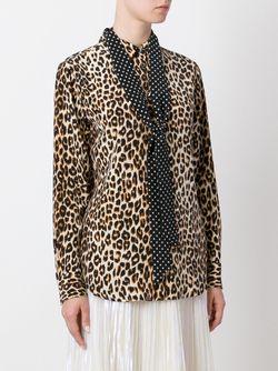 Рубашка С Леопардовым Принтом Equipment By Kate Moss                                                                                                              Nude & Neutrals цвет