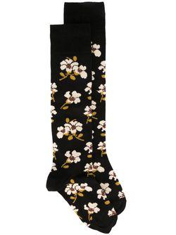 Жаккардовые Носки С Цветочным Узором Marni                                                                                                              чёрный цвет