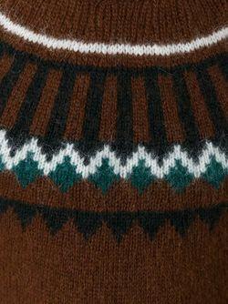 Джемпер С Узором-Интарсией Ami Alexandre Mattiussi                                                                                                              коричневый цвет