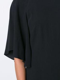 Платье С Расклешенными Рукавами Adam Lippes                                                                                                              чёрный цвет