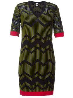 Платье Зигзагообразной Вязки Missoni                                                                                                              черный цвет