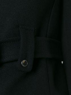 Однобортное Пальто С Поясом Red Valentino                                                                                                              черный цвет