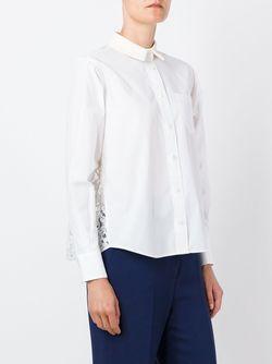 Рубашка С Кружевными Вставками Sacai                                                                                                              белый цвет